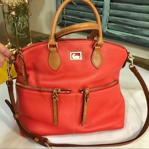DOONEY & BOURKE RED LEATHER TOTE HOBO NEVER WORN